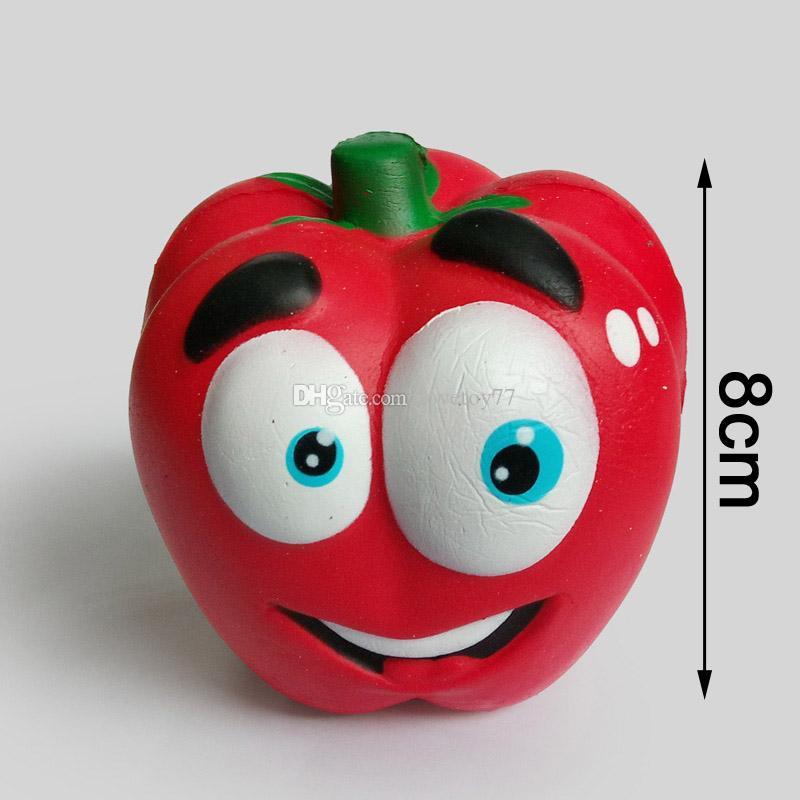Nueva blando guindilla de dibujos animados emoji lenta recuperación de la PU imitación de pastel de frutas 8cm emoji linda squishies descompresión Juguetes