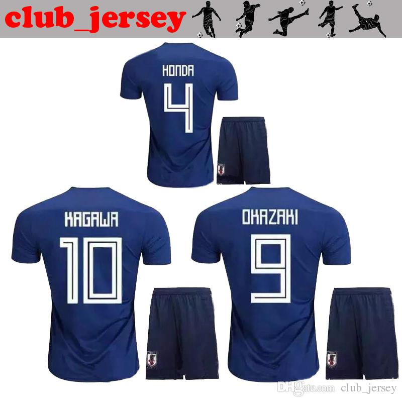 1714fb7c286 2019 2018 New Japan World Cup Kids Kits Soccer Jersey Thai Quality HONDA  Home Away OKAZAKI HASEBE NAGATOMO KAGAWA Japan Child Football Shirt From ...