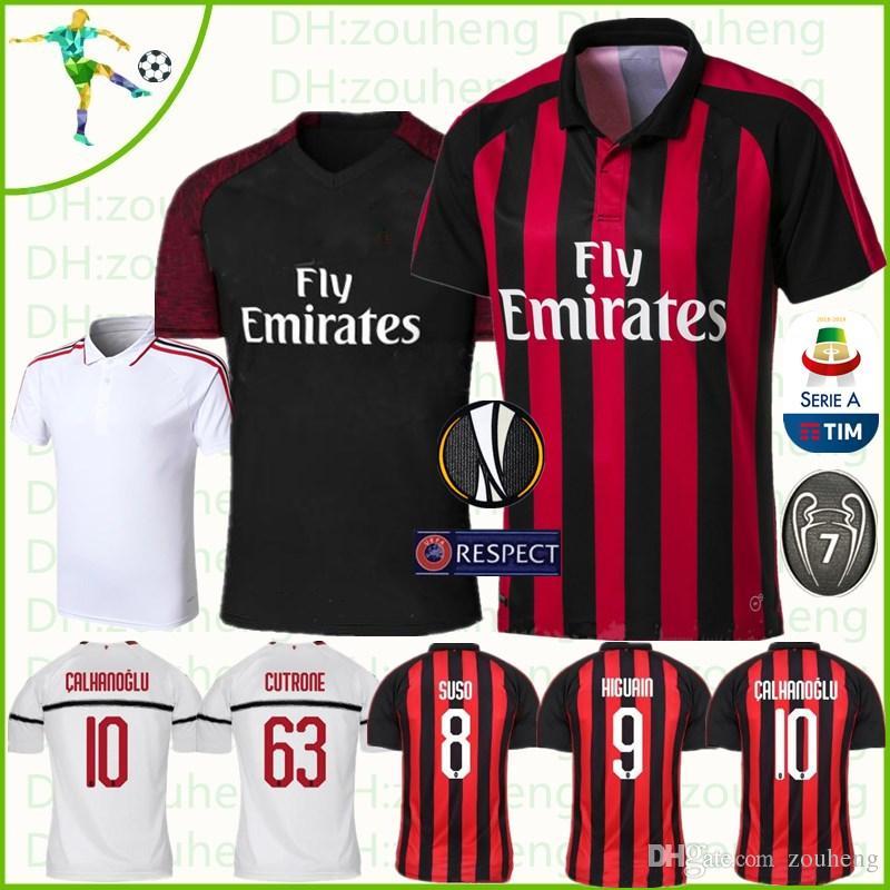 270f86c1bf087 Jersey de fútbol ac milan uniformes de fútbol higuain jpg 800x800 Uniformes  de futbol del milan