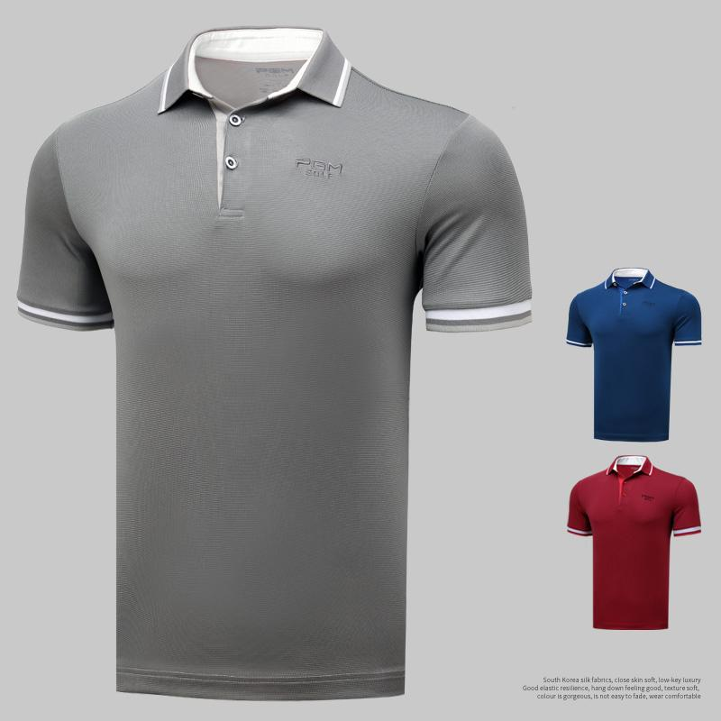 0c7454fb Genuine Golf Men's Tshirt Short Sleeve T-Shirt Summer Breathable Polo Sport  Shirt Quick Drying Golf Clothes