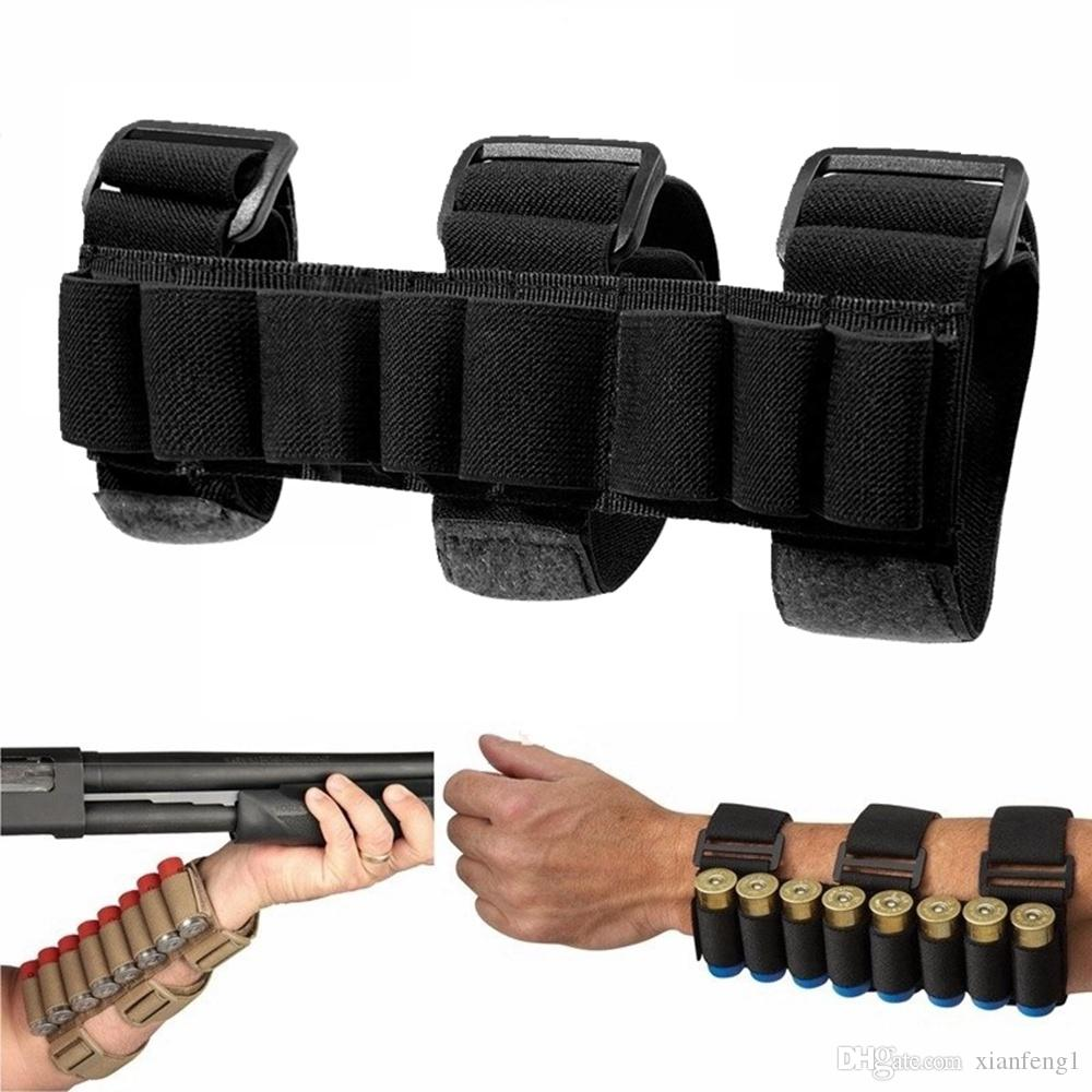 Tactical Hunting 8 Rounds 12 Gauge Shotgun Shell Ammo Holder Carrier  Shooters Forearm Sleeve Magazine Pouch