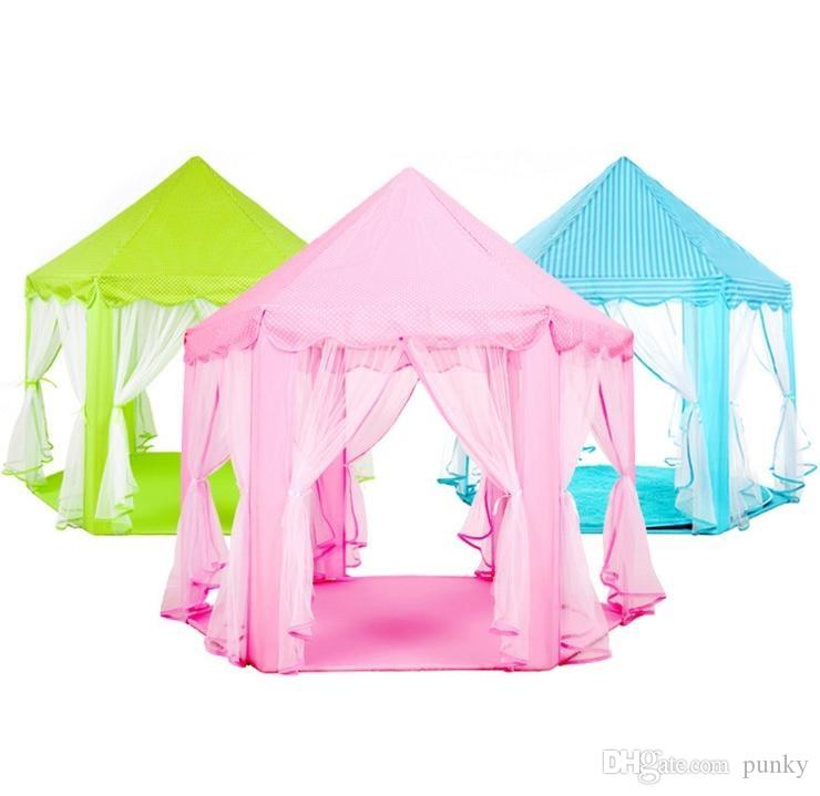 Portable Toy Tents Princess Castle Play Game Tent Activity Fairy House Fun Indoor Outdoor Sport Playhouse Toy Kids Xmas Gifts