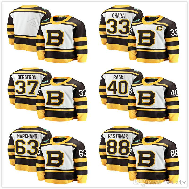 2019 Winter Classic Boston Bruins Hockey Jerseys 33 Zdeno Chara 37 ... 9038945de