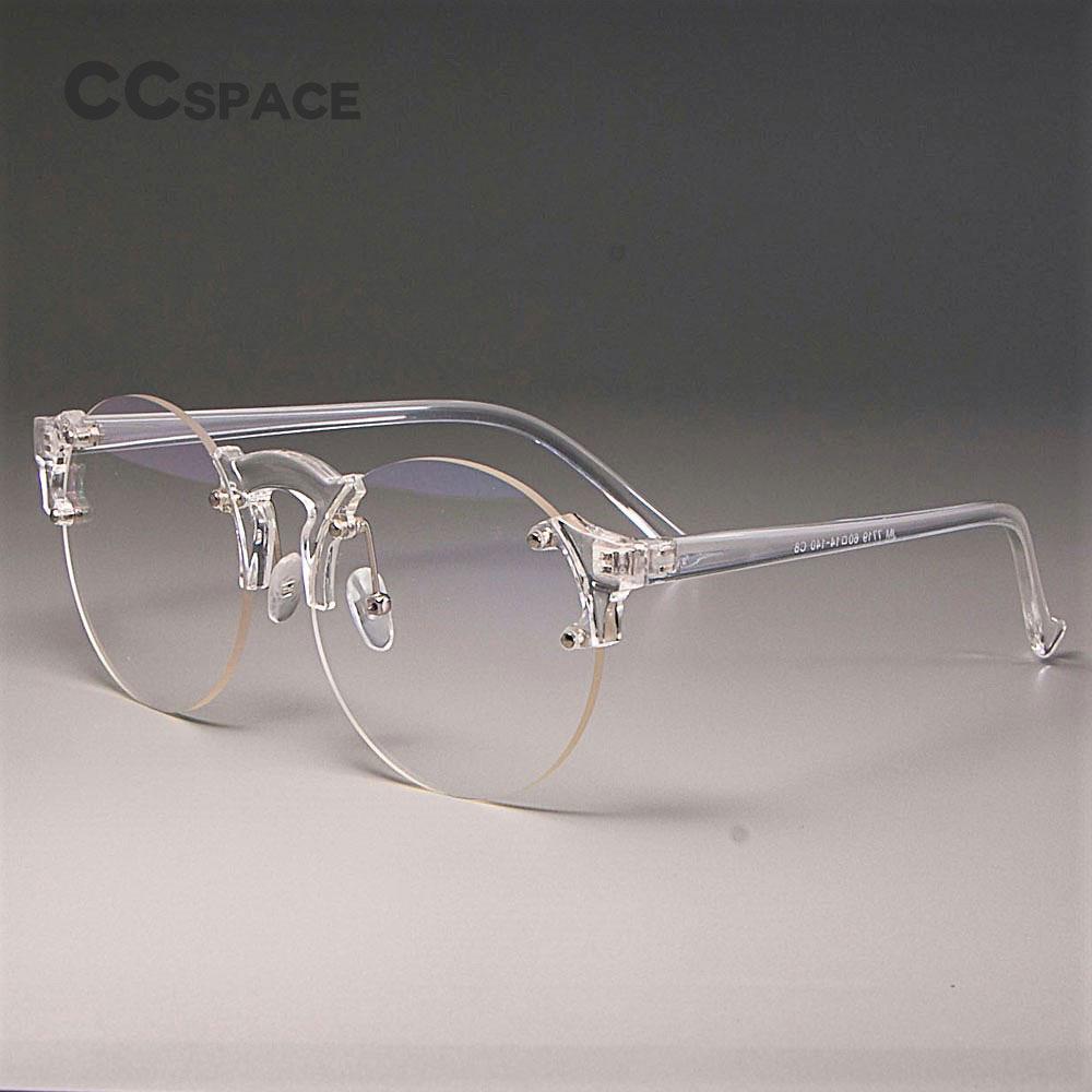 5e5f30491f0 CCSPACE Transparent Glasses Frames Men Women Round Lens Cat Eye ...