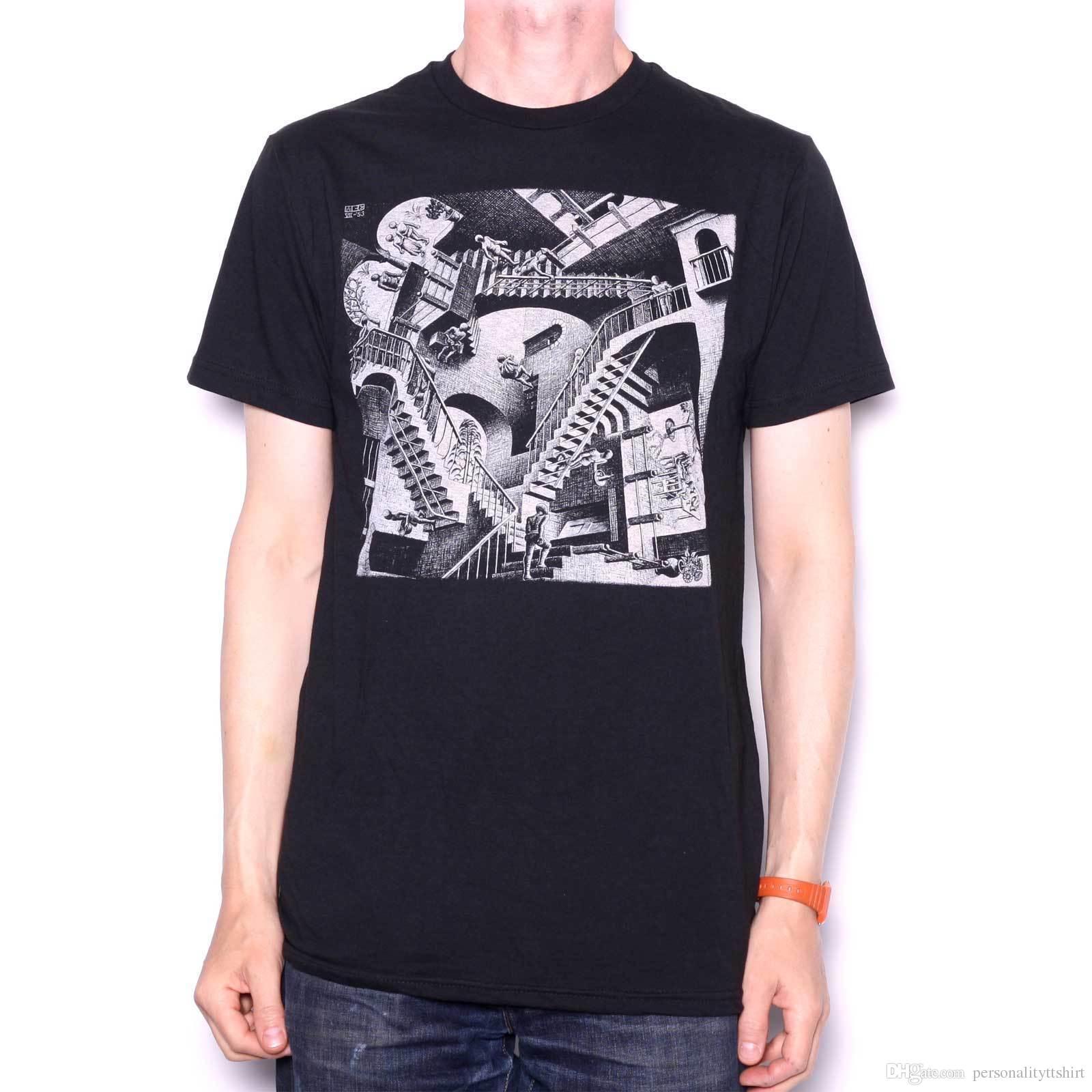 b5408a280 M.C. Escher T Shirt Relativity 100% Official Graphic Design ...