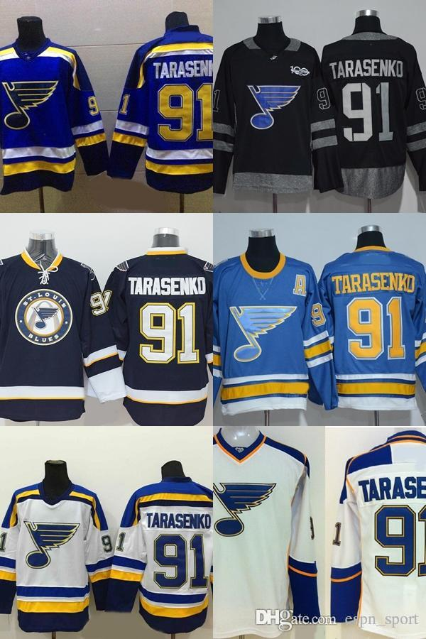 2019 Hot Sale St. Louis Blues 91 Vladimir Tarasenko Mens Blue Black White  100% Stitched Embroidery Ice Hockey Jerseys For Sale Accept From  Espn sport 3ffb8bb3a