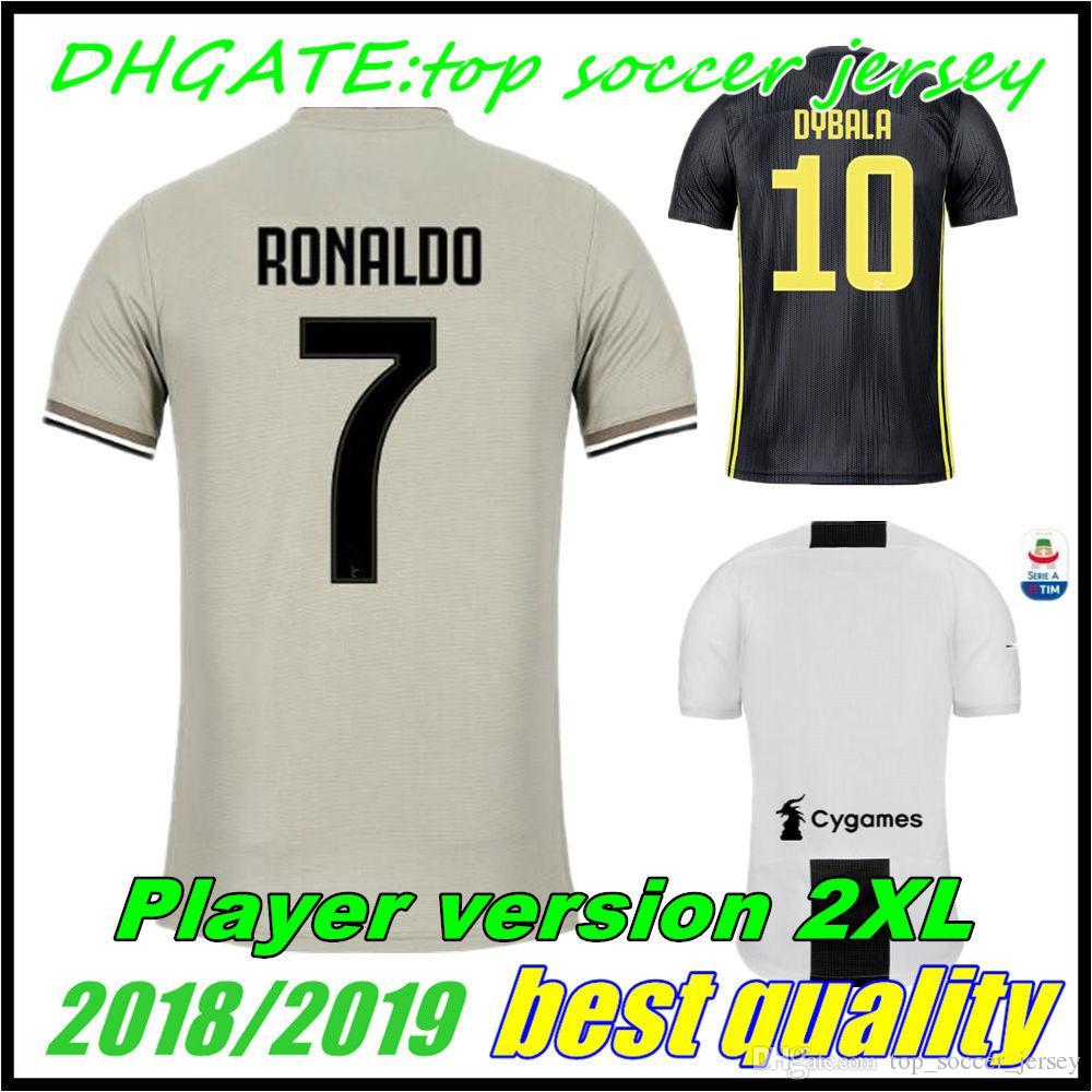 sports shoes e8394 4500f 2018 2019 DYBALA RONALDO Player version Home third soccer Jersey MANDZUKIC  18 19HIGUAIN Juventus away MARCHISIO KHEDIRA football shirts