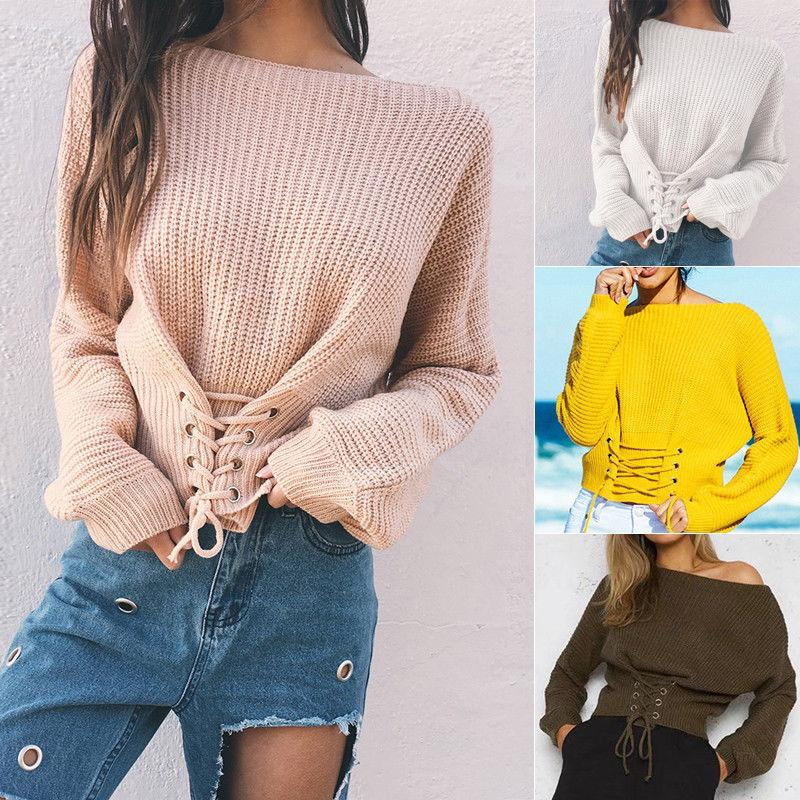 c95cb9e4d Newly Fashion Sweet Casual Women Ladies Sweaters 5 Style One Size ...
