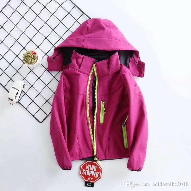 54663eeb0 The new kids waterproof north jacket boys girls softshell multi- fabric  seamless fusion ultra-light and wear-resistant face coats s-xxl