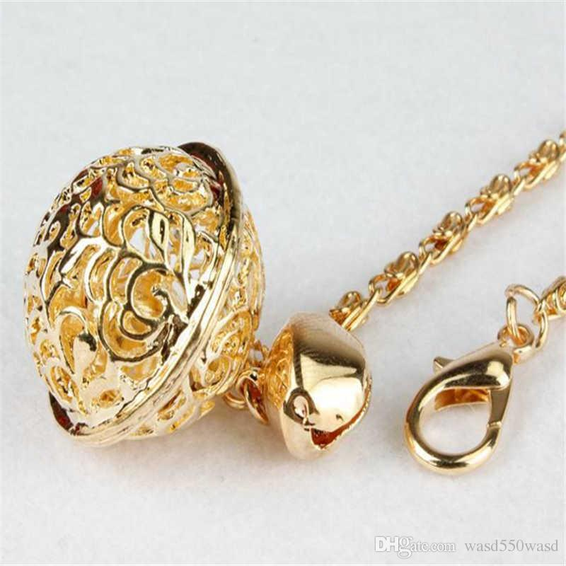 fashion elegant high grade women man lovers delicate key rings hollowed-out bell keychains hang decorative bag accessories pendant