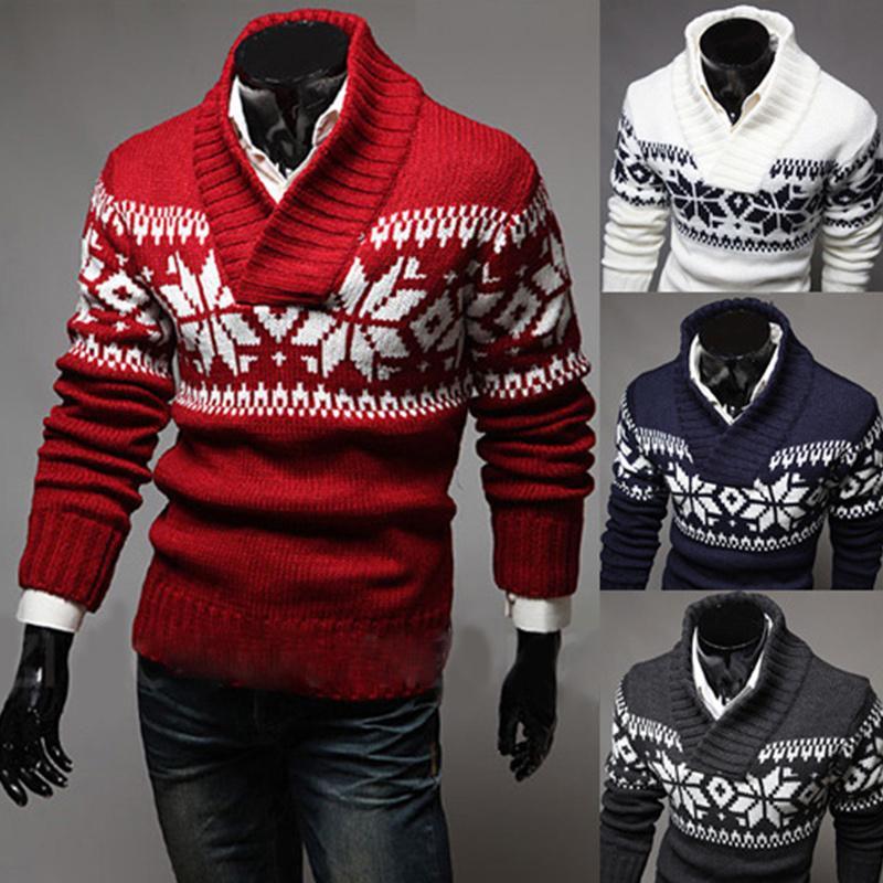 FDWERYNH Automne Hiver Pull Hommes Chandail De Noël Chandail V Cou Modèle Slim Fit Tricoté De Noël Chandails Tricots
