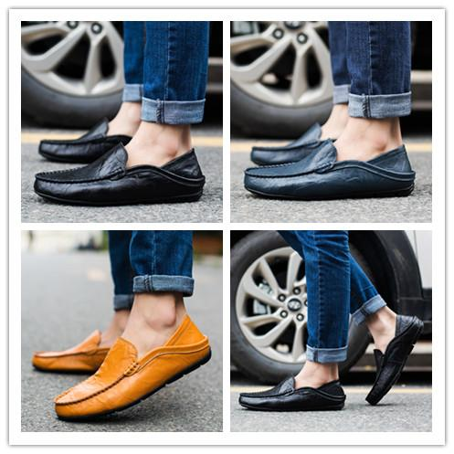 be62f11c7df Men S Faux Leather Driving Penny Loafers Comfortable Driving Shoe Size 38  44 AK20138 Mens Shoes Loafers From Kaka store