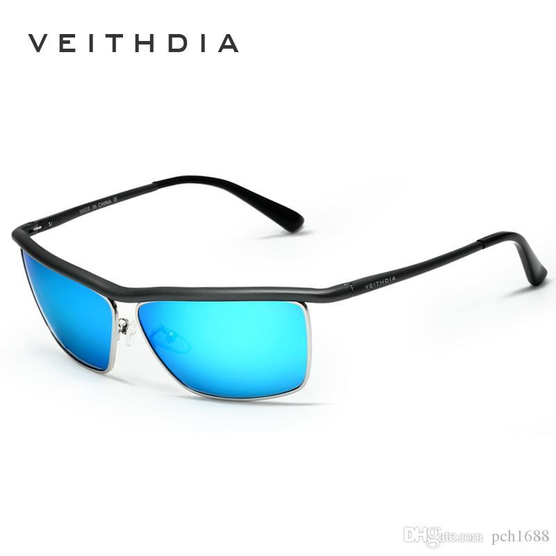 dcd33e83588 VEITHDIA Brand Men S Metal Frame Color Film Reflective Polarized Sunglasses  Fishing Driver S Mirror Driving Mirror Glasses Original Box 6381 Cheap  Designer ...