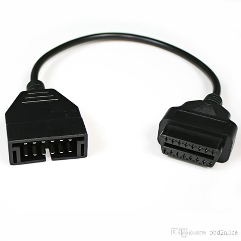 20 шт. качество отлично подходит для GM 12pin OBD OBDII автомобиля диагностический кабель разъем для gm 12pin 16pin OBD2 диагностики