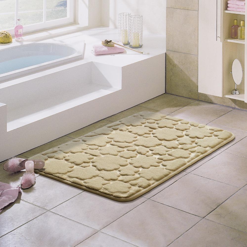 Großhandel 40 * 60 Cm 3D Blume Teppich Rutschfeste Matten WC Teppich ...