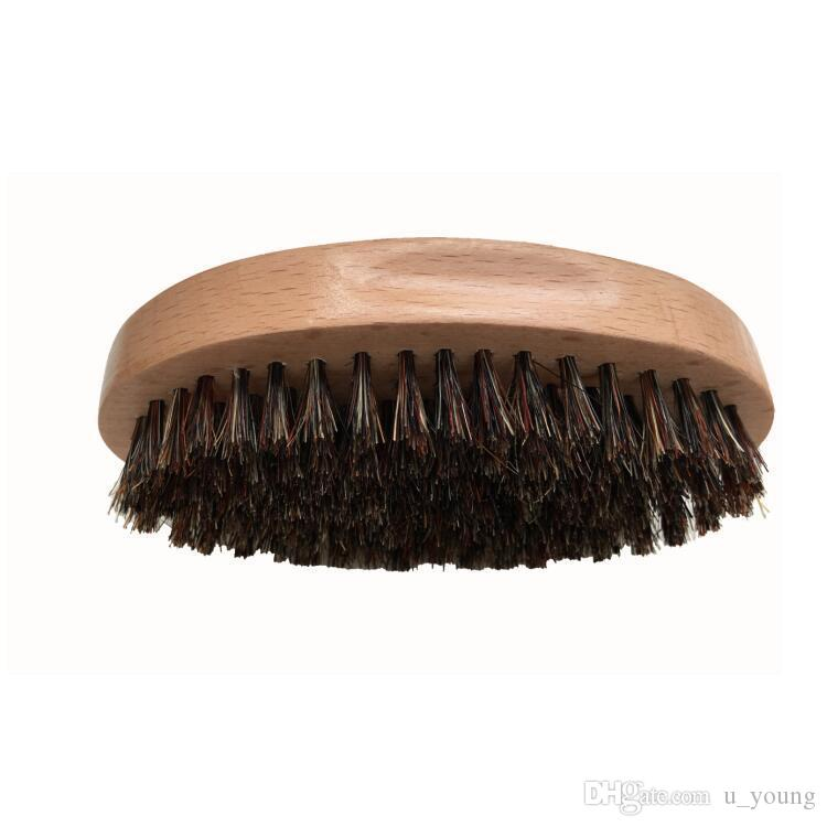 Men's Shaving Brush Bristle Hair Beech Wood Face Mustache Beard Cleaning  Skin Massage
