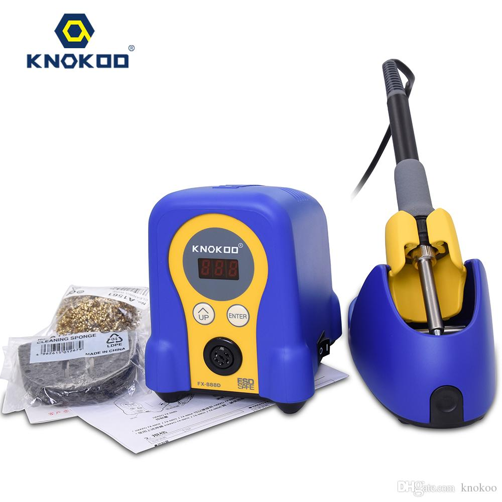 Knokoo 70W 220V FX-888D Lead Free Safe SMD Rework Soldering Station with Digital Display