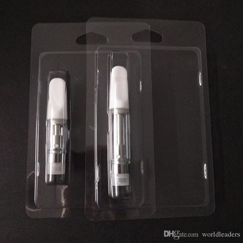 Пластиковая упаковка для всех картриджей 0,5 мл / 1,0 мл G2 510 Толстые масляные форсунки M6T Розничная упаковка моллюсков блистерной упаковки Бесплатная доставка