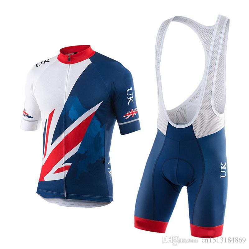2018 Pro Team GB UK Great Britain Short Sleeve Cycling Jersey Kit Ropa  Ciclismo Breathable Bicycle Clothing Bike Jersey Bib Shorts Set Mountain  Bike ... 8b2c7909d