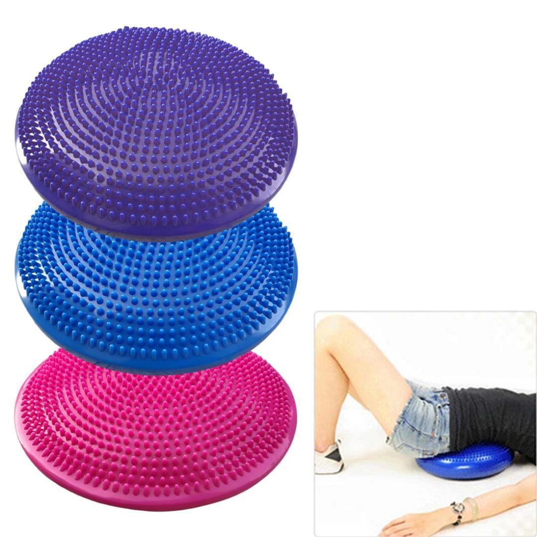 Acheter Brand New 33x33 Cm Durable Gonflable Yoga Massage Ball Ball Sports  Gym Fitness Yoga Wobble Stabilité Équilibre Disque Massage Coussin Tapis De  ... 6289c925307