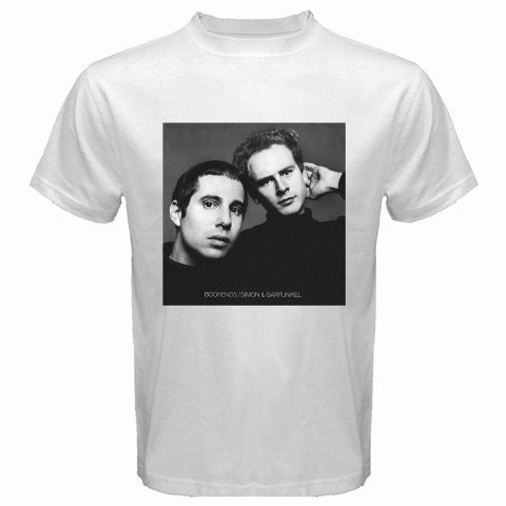New Simon   Garfunkel Bookends Album Cover Men S White T Shirt Size S To  3XL Shirt Online Cartoon T Shirts From Gaobei10 3ffb5458620a5