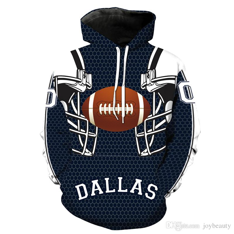 competitive price d0224 f7fc9 Men Hoodie Dallas Cowboys 3D Full Print Man Hooded Sweatshirt Unisex Casual  Pullover Hoodies Long Sleeves Sweatshirts Digital Tops (RL2178)