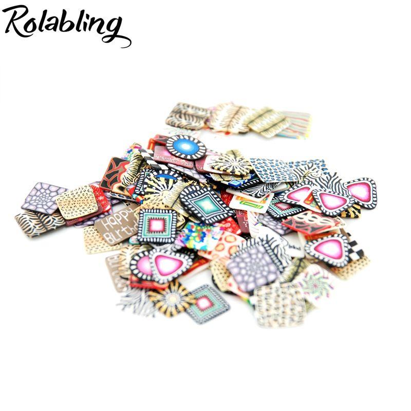 f3b718f05f5b Compre Rolabling 20 Unids   Caja Nail Art 3D Fimo Canes Mix Color Belleza  Patrón Rebanadas Arcilla De Polímero DIY Nail Art Tips Decoración A  25.91  Del ...