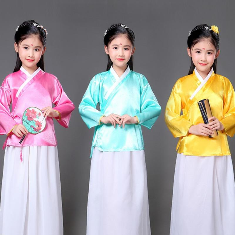 f63c2cfe3 2019 Children Ancient Costume Hanfu Traditional Chinese Folk Dance Tang  Dynasty Qing Ming Opera Dance Costumes Dress Cosplay Girl Kid From  Misssixty, ...