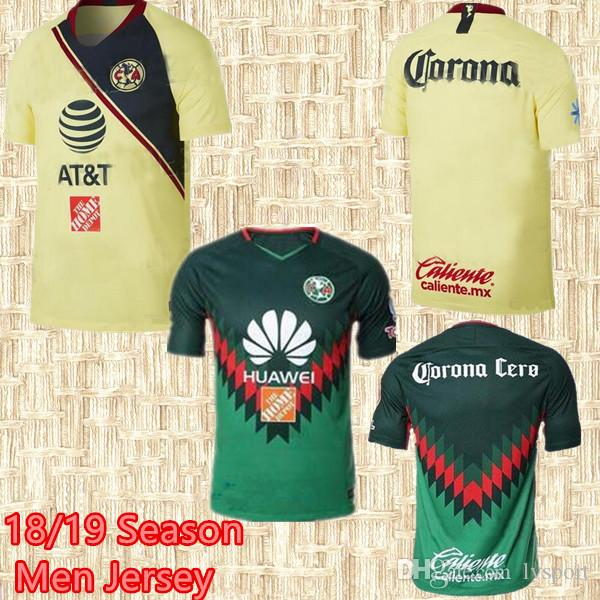 2018 2019 Liga MX México Club América Camiseta De Fútbol Local 18 19 Club  América Camiseta De Fútbol Ausente DOMINGUEZ PERALTA 3er Uniforme De Fútbol  Verde ... 534a07b1006d1