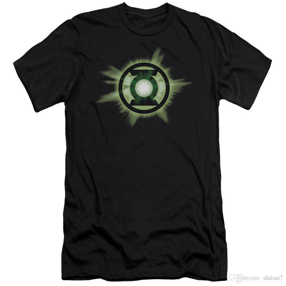 Green Lantern Corp Green Glow DC Comics Licensed Adult T Shirt 100% Cotton T-Shirts For Man top tee
