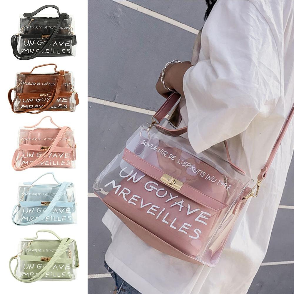 0e44444eb0f6 New Design Women Transparent Bag Clear PVC Jelly Small Tote Summer Beach  Bag Messenger Bags Female Crossbody Shoulder Bags Sac