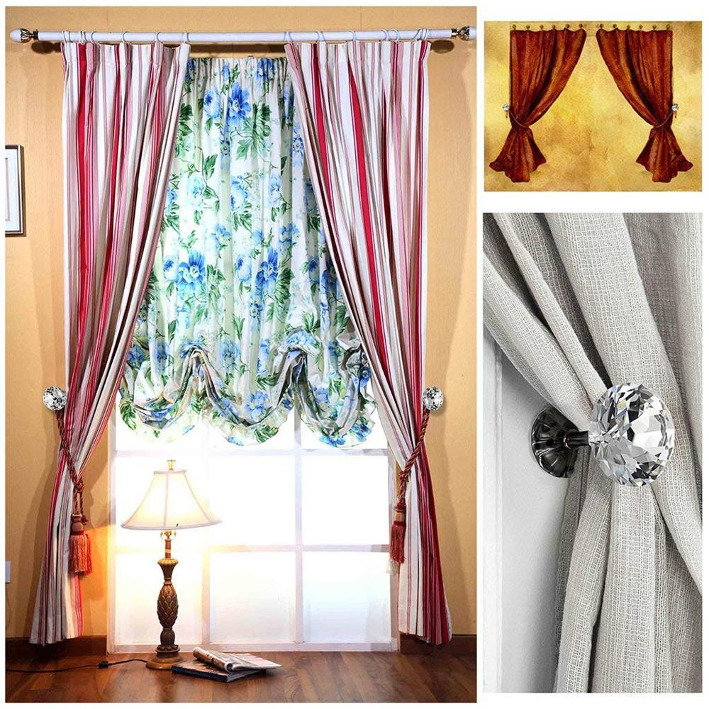 2018 High Quality Crystal 2PC Crystal Curtain Hooks Curtain Buckle Wall Holdbacks Decorative Tiebacks Gift Dropshipping