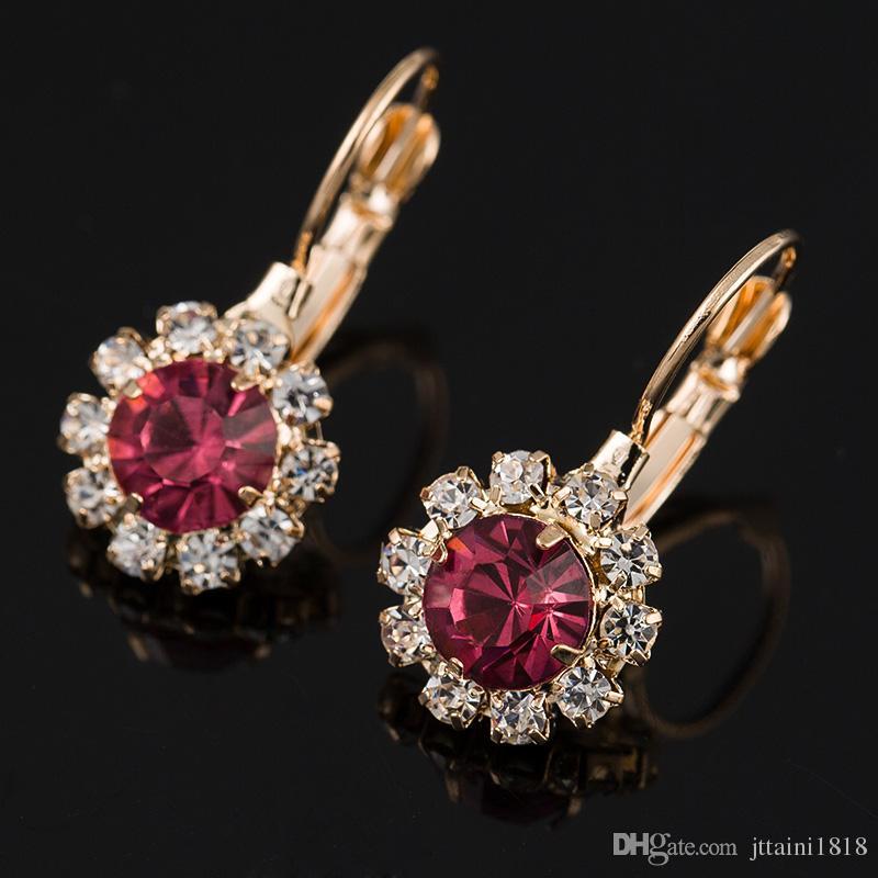 Top Braut Ohrring weiblichen österreichischen Kristall Ohrstecker in Ohr Strass Mode elegante Perle lange Ohrringe Frau # E004