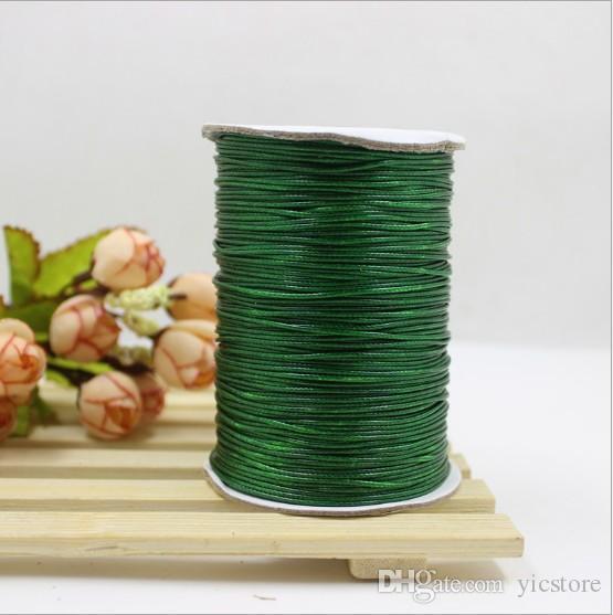 1 мм 200 ярдов высокое качество вощеная хлопок шнуры для воска ювелирных изделий DIY бисера строка браслет швейные кожа ожерелье