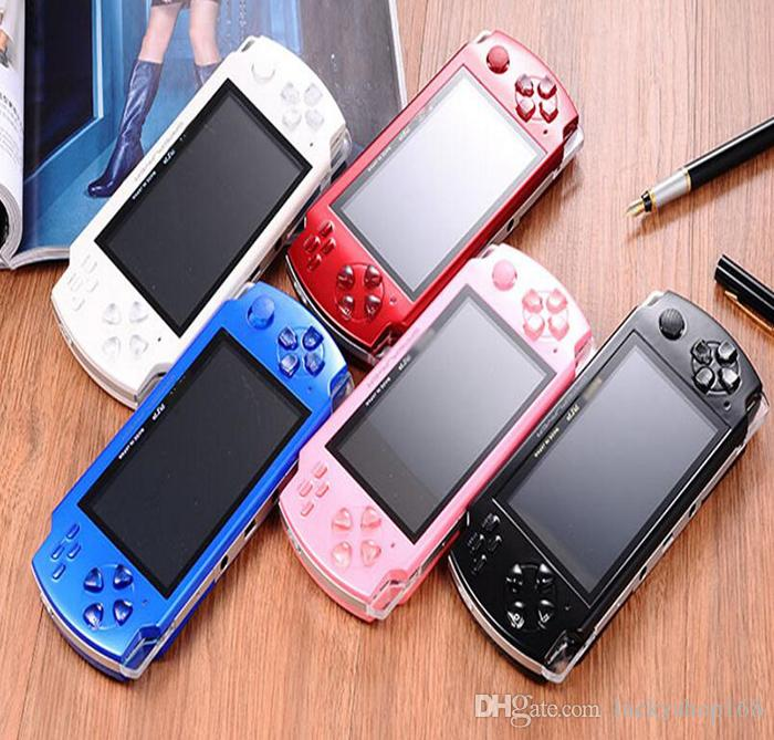 PMP 4GB 8GB handheld Game Console 4.3 inch screen mp4 player MP5 game player real 8GB support for psp game,camera,video,e-book NEW