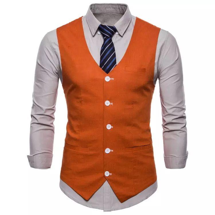 2019 2018 Men S Candy Color Classic Gentleman Casual Plaid Vest