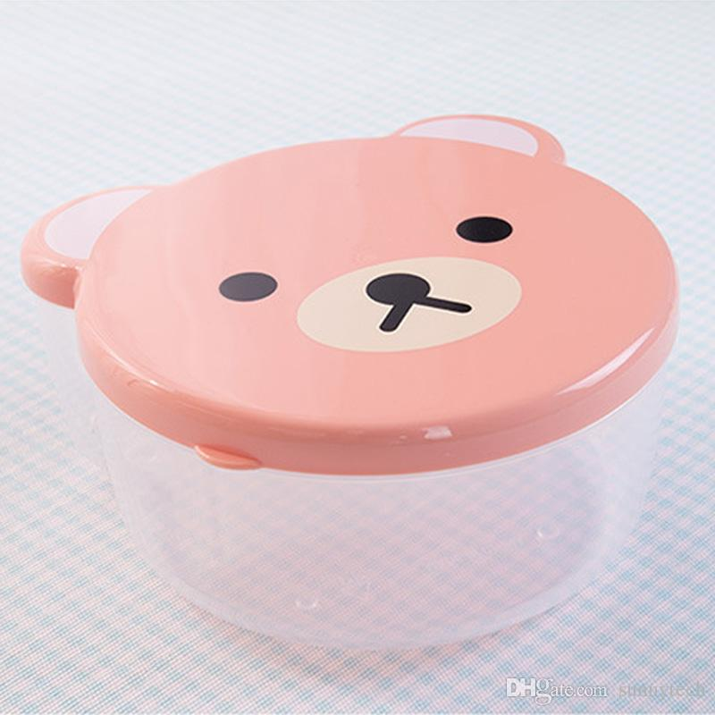 Cartoon Microwave Boxes Sealed Crisper Kitchen Refrigerator Storage Organizer Bento Lunch Box Food Container LZ1138
