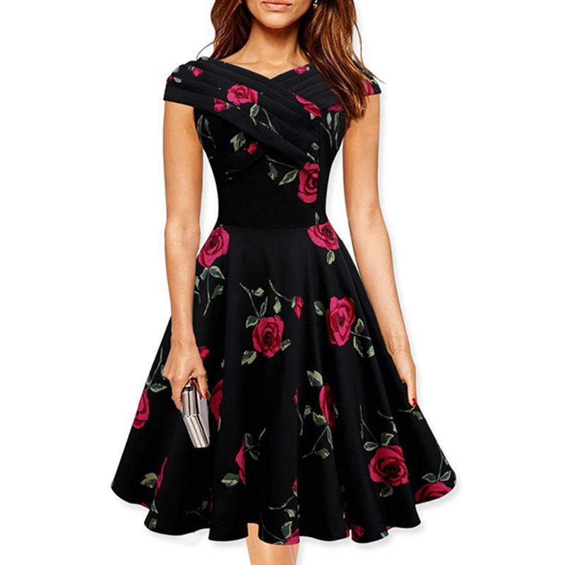 Vintage Dress Slash Neck Sexy Women Ball Gown Dress Summer Dovetail Elegant  Party Dress Princess Vestidos KH813285 Short Prom Dresses Semi Formal  Dresses ... f85e7c0768