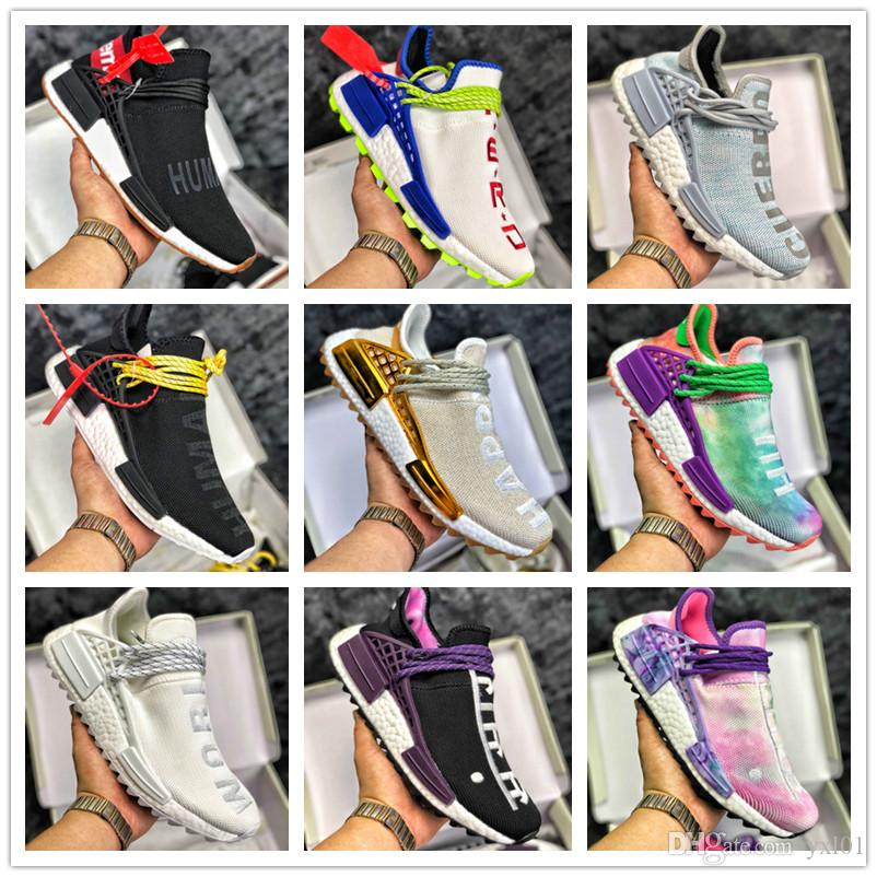 sale retailer 62536 06c62 2018 Hot Sale Sup Basf BBC x Human Race Pharrell Williams Running Shoes Men  Women Trainers Chaussures PW Hu Trail Sports Sneakers Size36-45