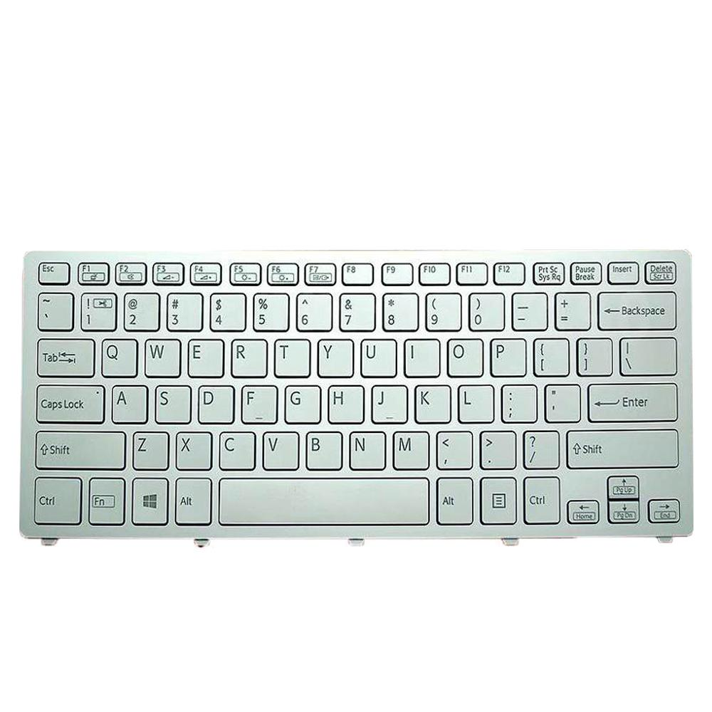 Laptop US Keyboard For SONY SVF14N Series Pink Frame Silver PN:149264011 With Backlit Win8 9Z.NABBQ.B01 SKBBQ 01 Black
