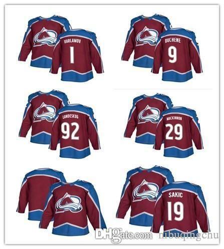 b72302ee887 Ado Avalanche Hockey Jerseys 92 Gabriel Landeskog 29 Nathan MacKinnon 19  Joe Sakic 9 Matt Duchene 1 Semyon Varlamov Jersey 1 Semyon Varlamov Online  with ...