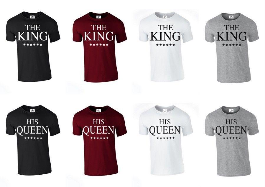 The King His Queen Crown T Shirt Love Valentines Day Couples