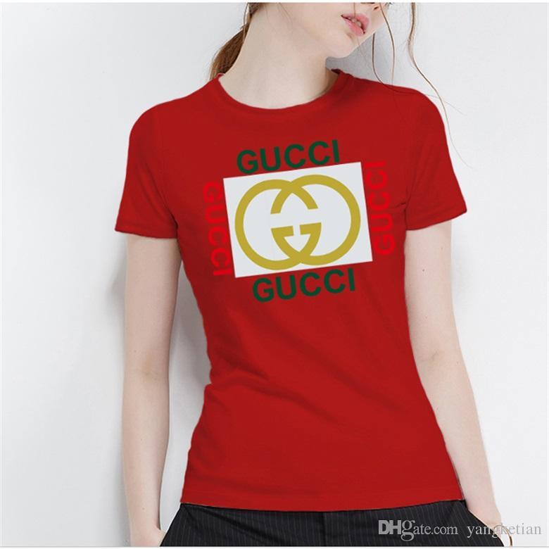 576ab640 All cotton short sleeve ladies brand logo printed T-shirt cool ladies  quality T-shirt casual women's shirt casual T-shirt