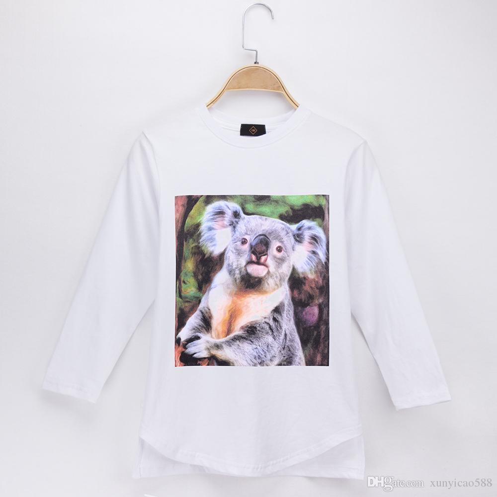 1823f509 2018 New Listing Children T-shirt Koala Bear 100% Cotton Long Boys T Shirts  Kids Clothes Baby Clothing Girls Tops Clothes Free Shipping