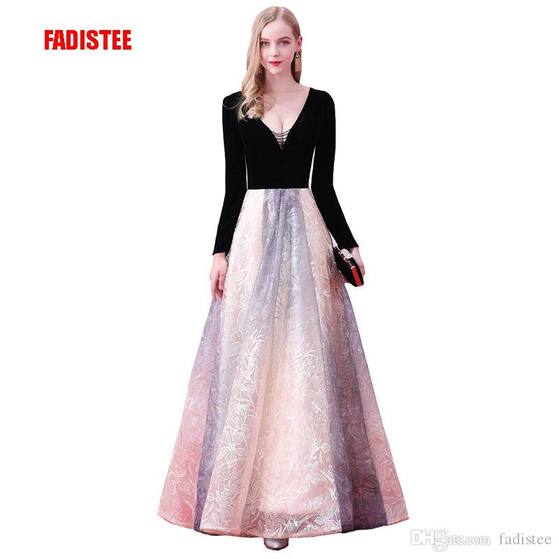 New Arrival Elegant Evening Party Dresses Vestido De Festa Gown Luxury  Pattern Print Satin Robe De Soiree Prom Party Dress Prom Dress Evening  Dresses Online ... 9d6c385fd9d6