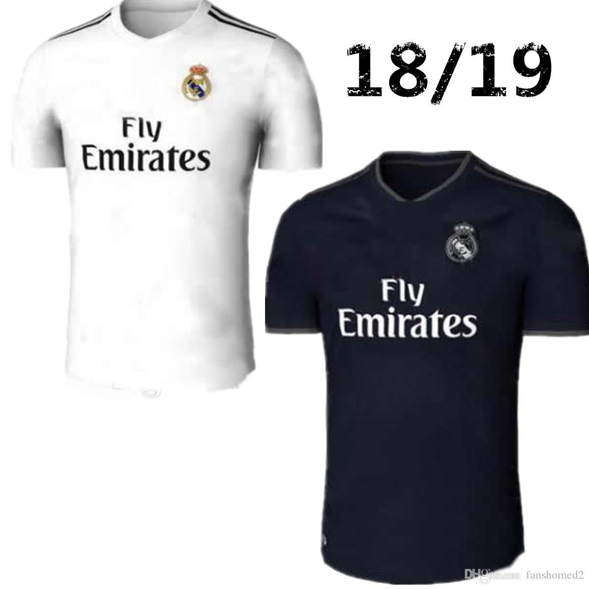 Compre 18 19 Real Madrid Camisas De Futebol Longe De Casa Romaldo 2018 2019  BALE ASENSIO MARCELO KROOS ISCO BENZEMA Camisa De Futebol Camisas De  Futebol De ... 783d0a387a5f4