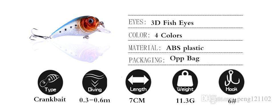 Wholesale fishing lure 7cm-11.3g best crank wobbler tackle crankbait artificial japan hard bait
