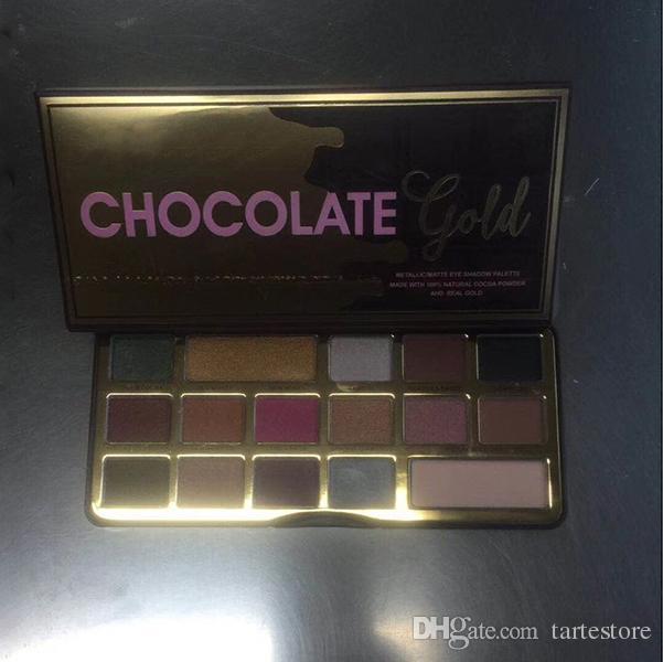 Neueste konfrontiert Chocolate Gold Bar Metallic Matte 16 Farben Lidschatten-Palette Make-up und hohe Qualität Freies Verschiffen