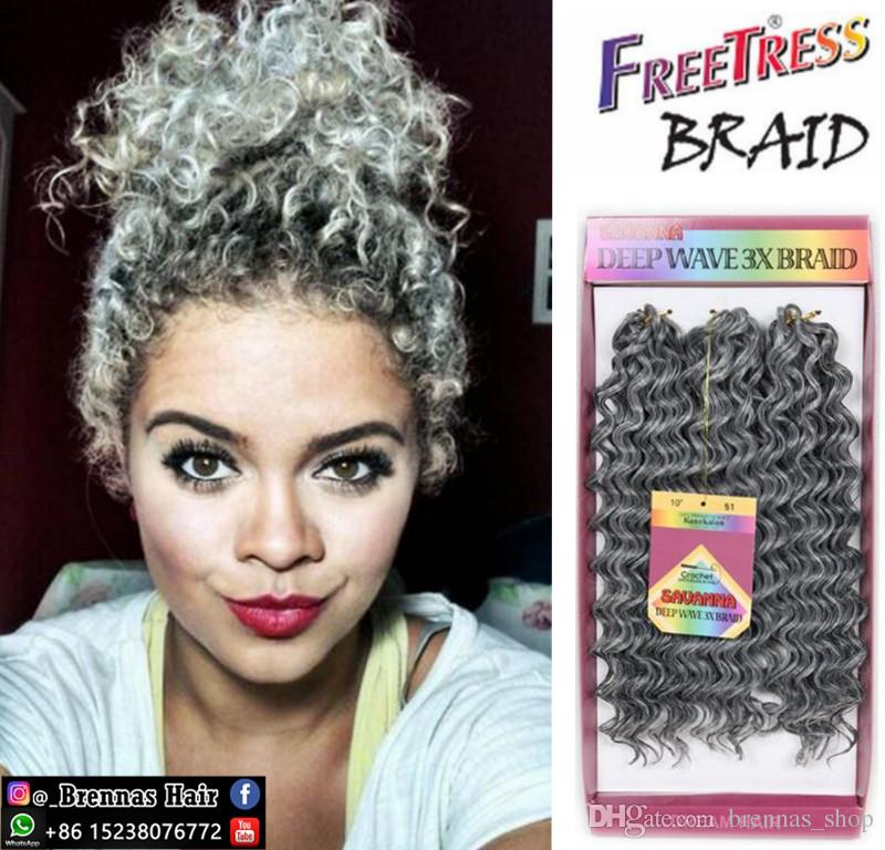 2019 Freetress Deep Twist Tree Braids Loose Wave Crochet Braids