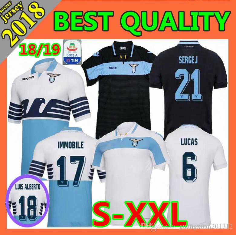 364346049 Size S XXL 2018 Lazio Soccer Jerseys 18 19 F.ANDERSON LUCAS KISHNA BASTA D  JORD JEVIC KEITA IMMOBILE LULIC Home Away Football Shirts Canada 2019 From  ...